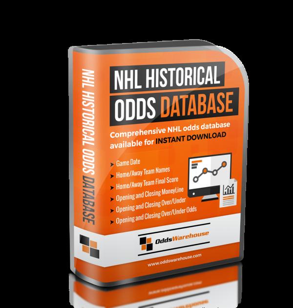 OddsWarehouse NHL Hockey Sports Odds Database